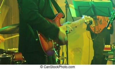 concert, jeux, concert, guitare, guitariste, vivant, performance, étape, groupe, homme, musical, il