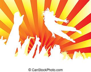 concert jump hot