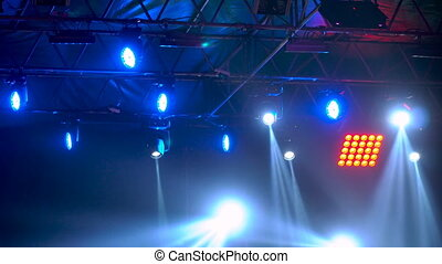 Concert light show. Stage lighting background