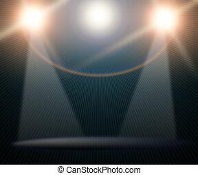 concert lighting against