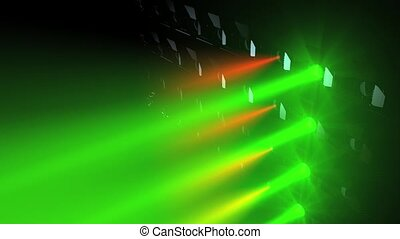 Concert lights flood animation, RGB colour.