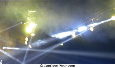 Concert Lights. Lighting effects on a concert stage at night