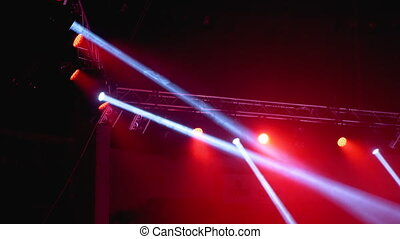 Concert Lights. Lighting Effects on a Concert Stage at the Circus Arena at Night.