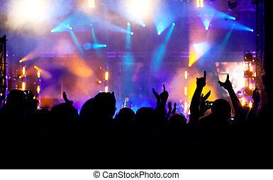 concert, menigte