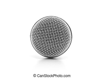 Concert microphone isolated on white background.