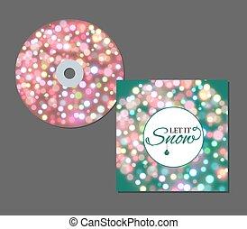 concert, néon, cd, conception, template., bleu, étincelles, particules, musique, cercle, affiche, effet, lentille, scintillements, lueur, éclat, lumière, couverture, âme, vecteur, flamme, ou, scintillement