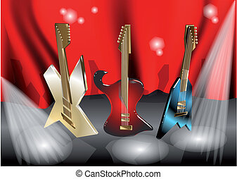 concert of electric guitars