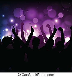 Concert or club background - Vector background - cheering...