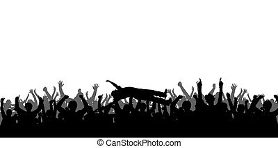 Concert People Silhouettes - High details vector silhouettes...