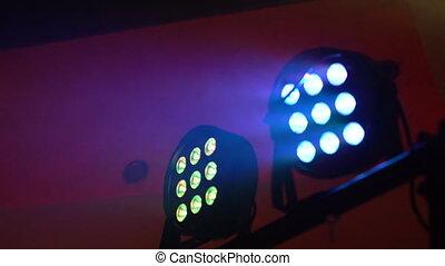 concert, smoke., lumière, multi-coloré, équipement, éclairage, 4k, rayons