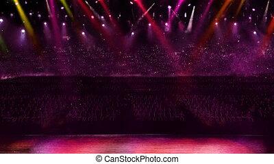concert spotlight color change