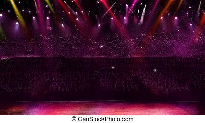 concert spotlight color changing