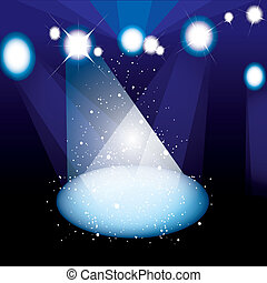 Concert spotlight stage - Concert or play stage with bright...