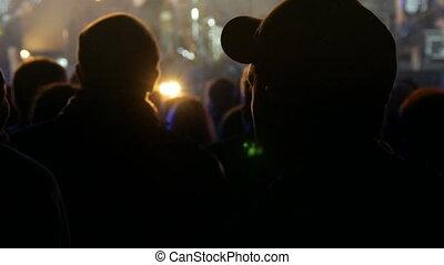 concert, svidivok, festival, foule, ukraine:, -, tarasova, juin, moto, vélo, village, rest., gora, rocher, où, 1, gens, 2018