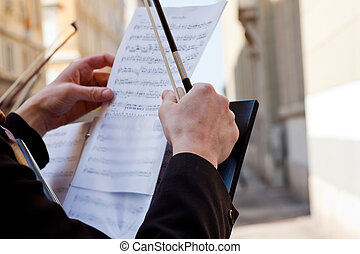 Concert Violinists - Concert in the street of Violinists, ...