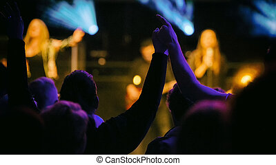 concert with people hands up