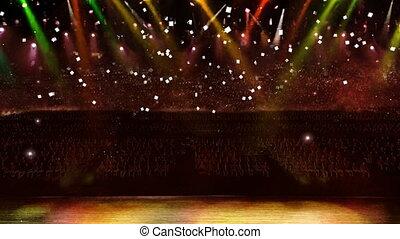 concert yellow light confetti