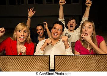 concerto, audiência, alegrando
