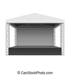 concerto esterno, palcoscenico