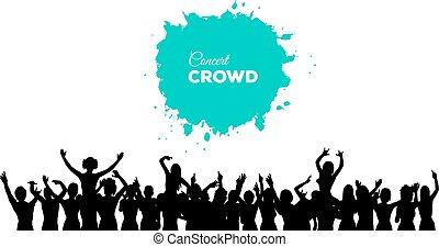 concerto, folla, persone