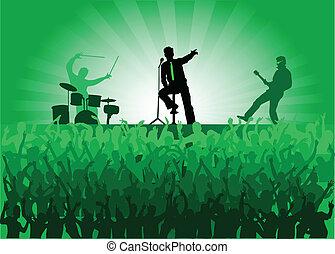 concerto, torcida, pessoas