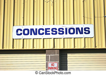 Concession stand. - Fairground stadium concession stand.