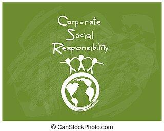 concetti, ambiente, conservazione, responsabilità, sociale, ...
