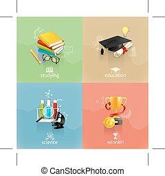 concetti, educazione, icone