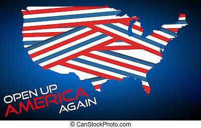 concetti, su, ancora, america, apertura, economie, reopening