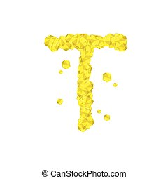 concetto, 10, diamante, set, virtuale, colore alfabeto, giallo, isolato, cristallo, vettore, disegno, illustrazione, lettera, 3d, bianco, eps, gemstone, fondo, t