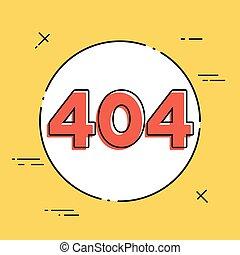 concetto, -, 404, vettore, errore, minimo, icona
