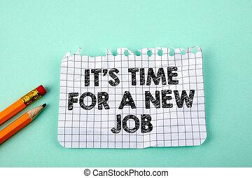 concetto, affari, è, tempo, lavoro nuovo
