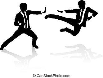 concetto affari, concorrenza, combattimento, persone