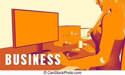 concetto affari, corso
