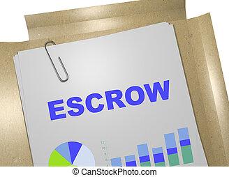 concetto, -, affari, escrow