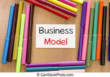 concetto, affari, felt-tip, testo, nota, penna, modello