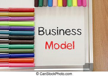 concetto, affari, felt-tip, testo, whiteboard, penna, modello