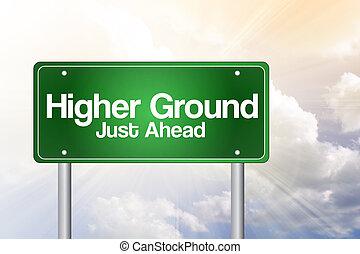 concetto, affari firmano, verde, suolo, strada, più alto