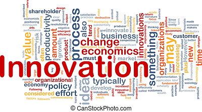 concetto, affari, fondo, innovazione