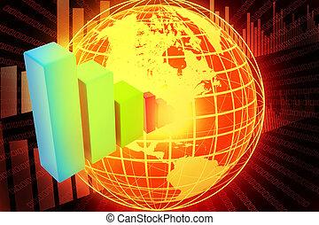 concetto, affari globali, internet