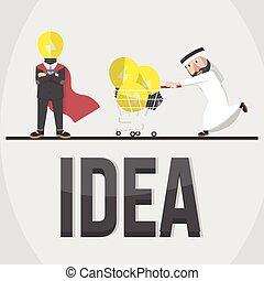 concetto affari, idea, illustrazione