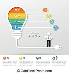 concetto, affari, infographics