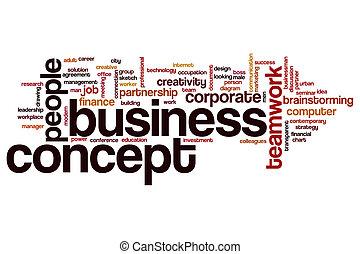 concetto affari, parola, nuvola