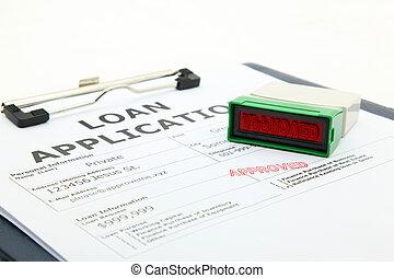 concetto, affari, processo, prestito, contratto, domanda,...