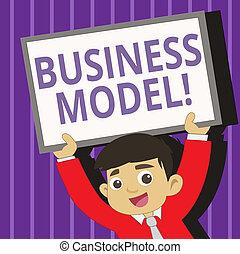 concetto, affari, riuscito, testo, innovativo, scrittura, ideas., significato, model., marketing, scrittura, strategico, visione, piano