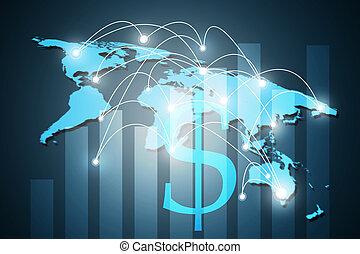 concetto, affari, serie, globale, concetti, internet