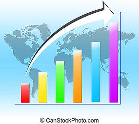 concetto, affari, serie, globale, concetti, meglio