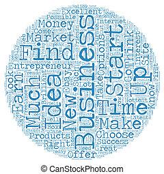 concetto, affari, testo, idee, 1, imprenditore, wordcloud, fondo