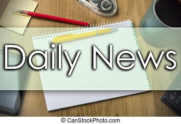 concetto, affari, testo, -, notizie quotidiane