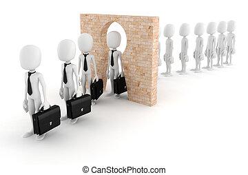concetto, affari, trasformare, persona, regolare, uomo, 3d